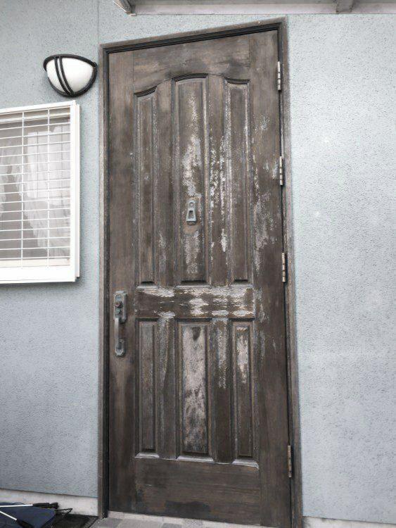 玄関リフォーム前の写真