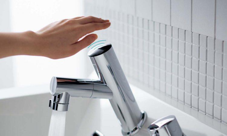 感染症対策 タッチレス水栓のイメージ画像①